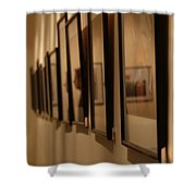 Reflections From A Series Of Painting Frames Shower Curtain
