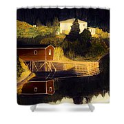 Reflections Golden Morning Shower Curtain
