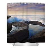 Reflections In Monument Cove Shower Curtain
