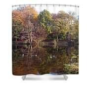 Reflections Of Autumn Shower Curtain by Rod Johnson