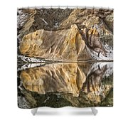 Reflections Of Clay Cliffs In Blue Lake Shower Curtain