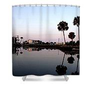 Reflections Of Keaton Beach Marina Shower Curtain