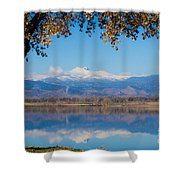 Reflections Of Longs Peak  Shower Curtain