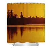 Reflections On Jessica Lake At Sunrise Shower Curtain