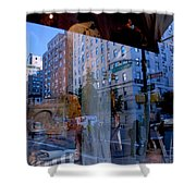 Reflections On Madison Avenue Shower Curtain