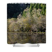 Reflections On Marshall Pond Shower Curtain