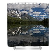 Reflections On Mount Moran Shower Curtain