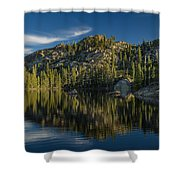 Reflections On Salmon Lake Shower Curtain