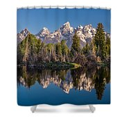 Reflections On Schwabacher Landing Shower Curtain