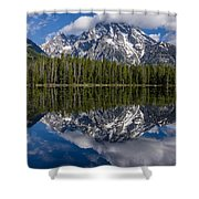 Reflections On String Lake Shower Curtain