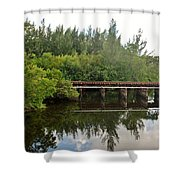 Reflections On The North Fork River Shower Curtain