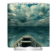 Reflections On The Sea Shower Curtain