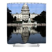 Reflective Government Shower Curtain