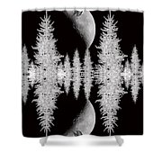 Reflective Shadows Shower Curtain