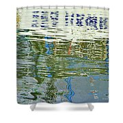 Reflective Water Abstract Shower Curtain