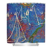 Regata Di Primavera Shower Curtain