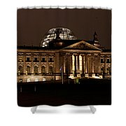 Reichstag At Night Shower Curtain