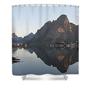 Reine Village In Early Morning Light Shower Curtain