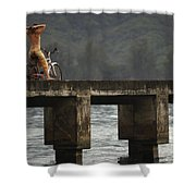 Relaxed Ride Hanalei Bay Shower Curtain