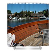 Relaxing On Lake Tahoe Shower Curtain