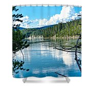 Relective Clouds Shower Curtain