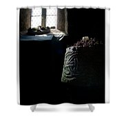 Relics - Celtic Church Shower Curtain