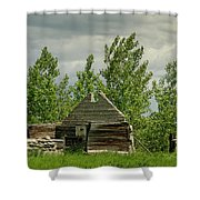 Remaining Wall Shower Curtain