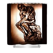 Remembering Rodin Shower Curtain