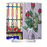 Remembering With Roses Shower Curtain