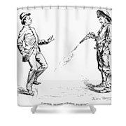 Remington: Cowboy, 1888 Shower Curtain