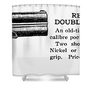 Remington Double Derringer Shower Curtain