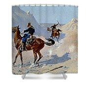 Remington: Guard, 1890 Shower Curtain