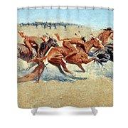 Remington: Indian Warfare Shower Curtain