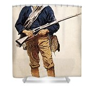 Remington: Soldier, 1901 Shower Curtain