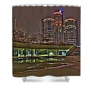 Renaissance Center Detroit Mi Shower Curtain