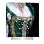 Renaissance Lady In Green Shower Curtain