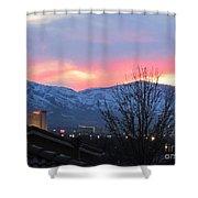 Reno At Night Shower Curtain