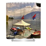 Rent A Boat Shower Curtain