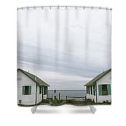 Rental Cottages Along A Cape Cod Beach Shower Curtain