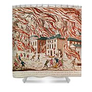 Representation Of The Terrible Fire Of New York Shower Curtain
