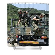 Republic Of Korea Marines Dismount Shower Curtain