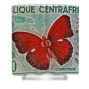 Republique Centrafricaine Butterfly Stamp Shower Curtain