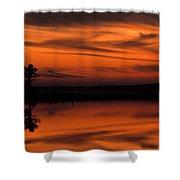 Reservoir Sunset Shower Curtain