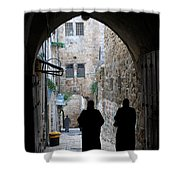 Residents Of Jerusalem Old City Shower Curtain
