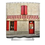 Restaurant In Provence Shower Curtain