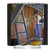 Restoring Art Shower Curtain