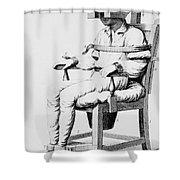 Restraining Chair 1811 Shower Curtain