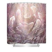 Resurrection Shower Curtain by Rachel Christine Nowicki
