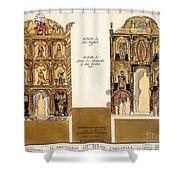Retablo, 1816 Shower Curtain