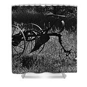 Retired Farmer Shower Curtain